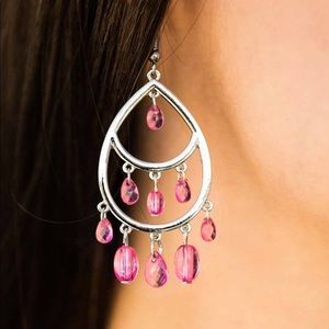 Jewelry - 🍬 Sparkling Soirée Pink Earrings